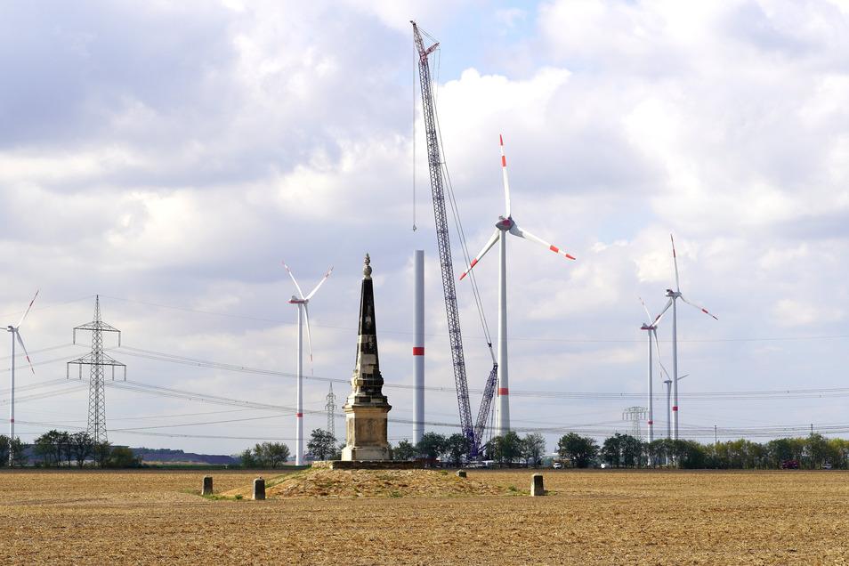 Im Windpark Streumen-Glaubitz stehen bereits zahlreiche Windräder. Mehr als 80 sind für den Kreis Meißen registriert. Bald sollen neue hinzukommen.