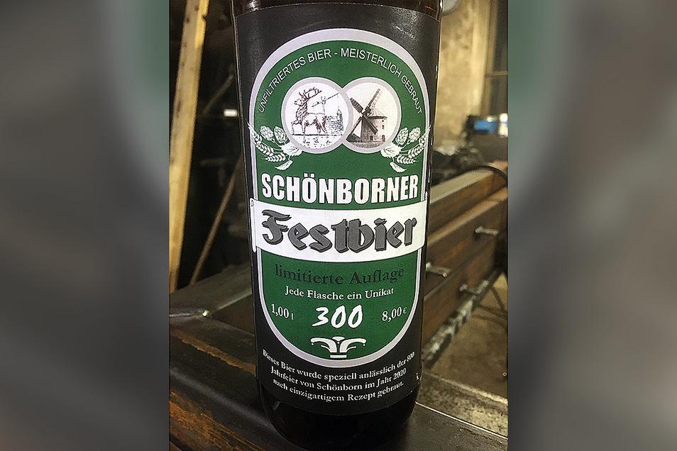 So sieht sie aus, die unikate Schönborner Festflasche.