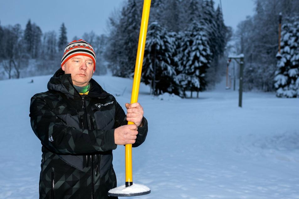 Sören Knöfel vom Skiclub Sebnitz: Die Vorbereitung war umsonst.