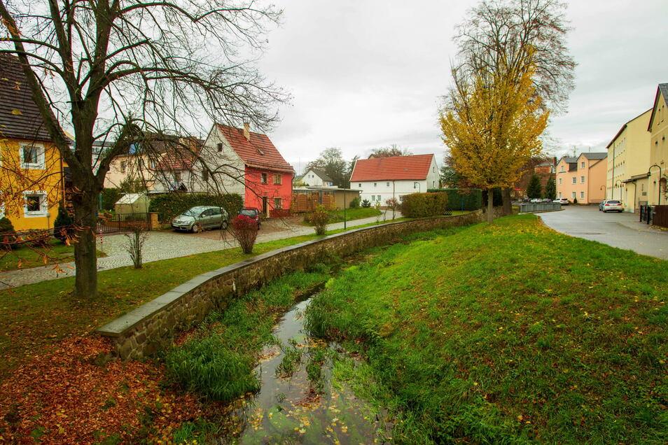 Die Böschung an der Wilden Sau in Wilsdruff nahe der Töpfergasse soll saniert werden.