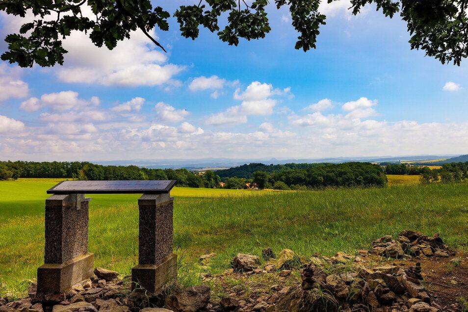 Der Panoramablick über die Sächsische Schweiz.