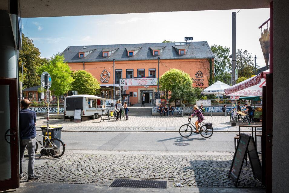 Kulturzentrum Scheune auf der Alaunstraße.