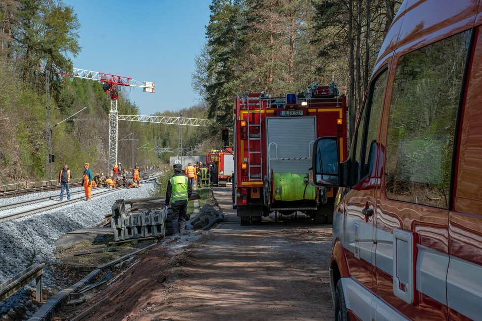 Auf der Viadukt-Baustelle war es im April 2020 zu einem Bahndammbrand gekommen.