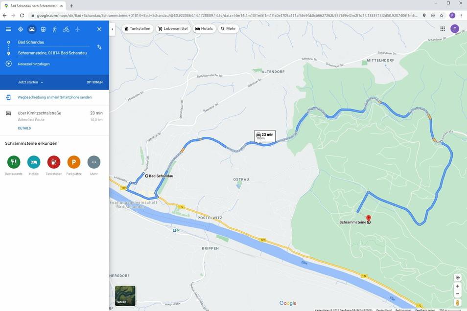 Google Maps schickt Autofahrer über gesperrte Waldwege im Nationalpark. Dabei ist für den Verkehr spätestens auf den Parkplätzen im Kirnitzschtal oder in Ostrau Schluss.