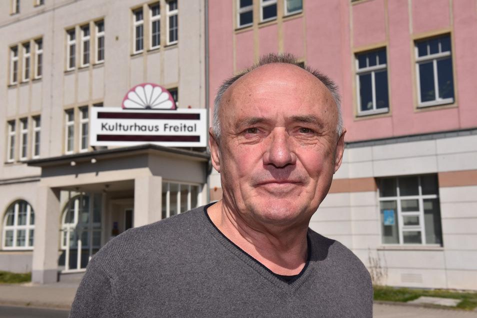 Lothar Brandau ist der neue Vorsitzende des Kulturvereins Freital, der das Stadtkulturhaus bespielt.
