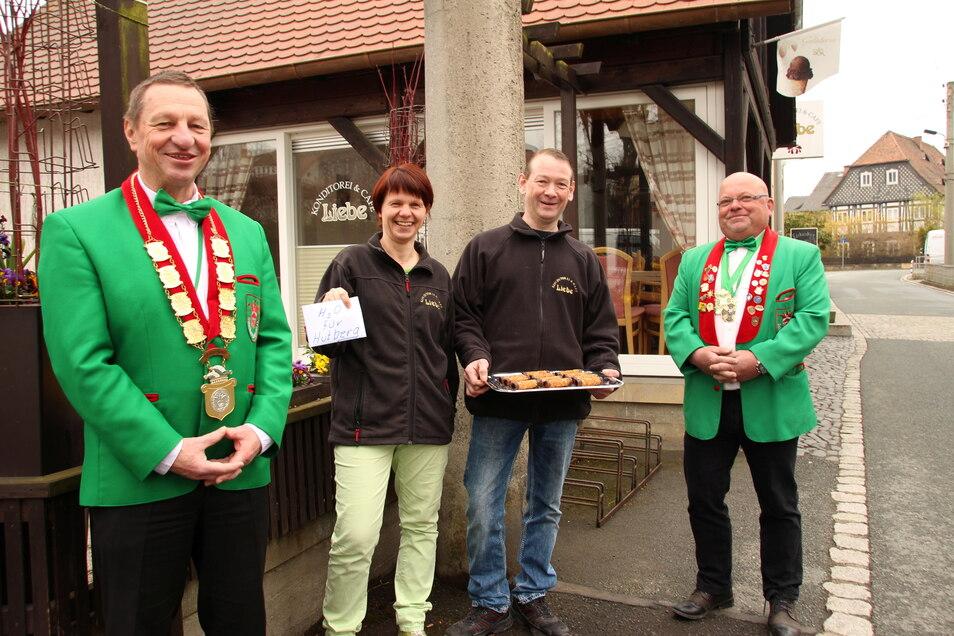 Die lokale Bäckerei unterstützte die Spendenaktion.