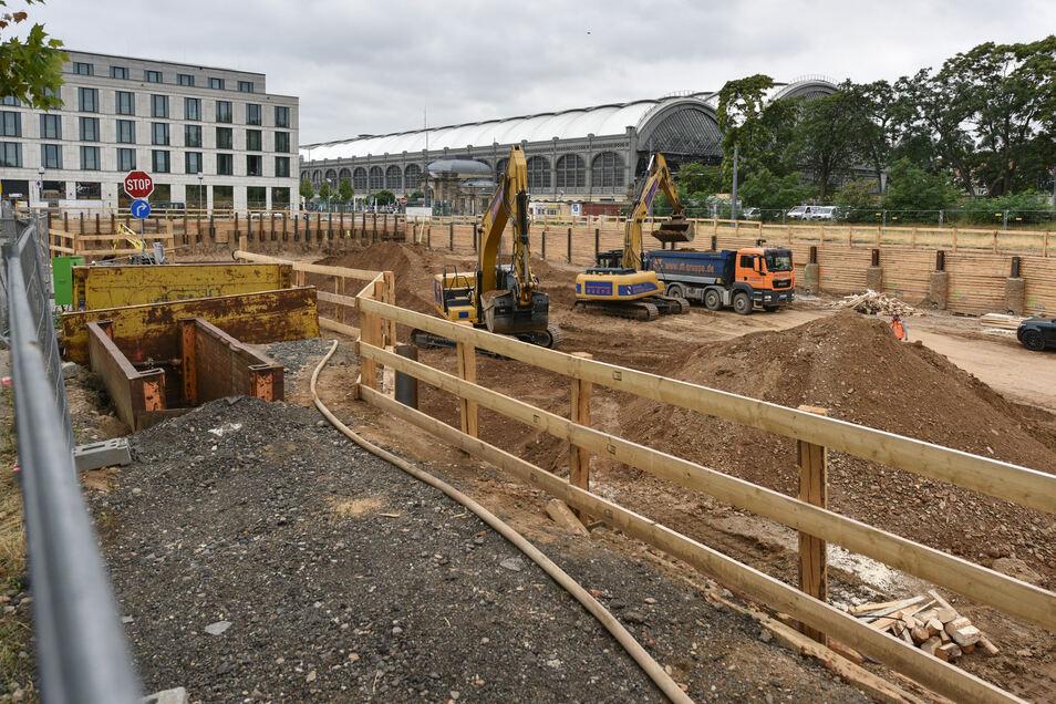 An der Ammonstraße haben die Bauarbeiten für das Simmelprojekt begonnen.