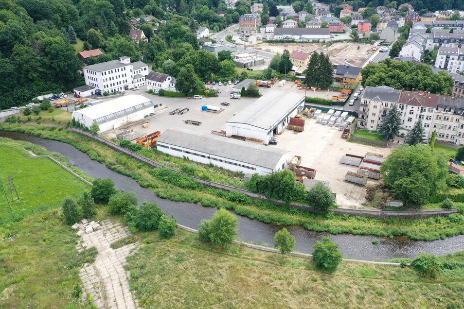 Noch Firmengelände, bald Freitals neues Wohnviertel: Am Sachsenplatz gibt es Baupläne.