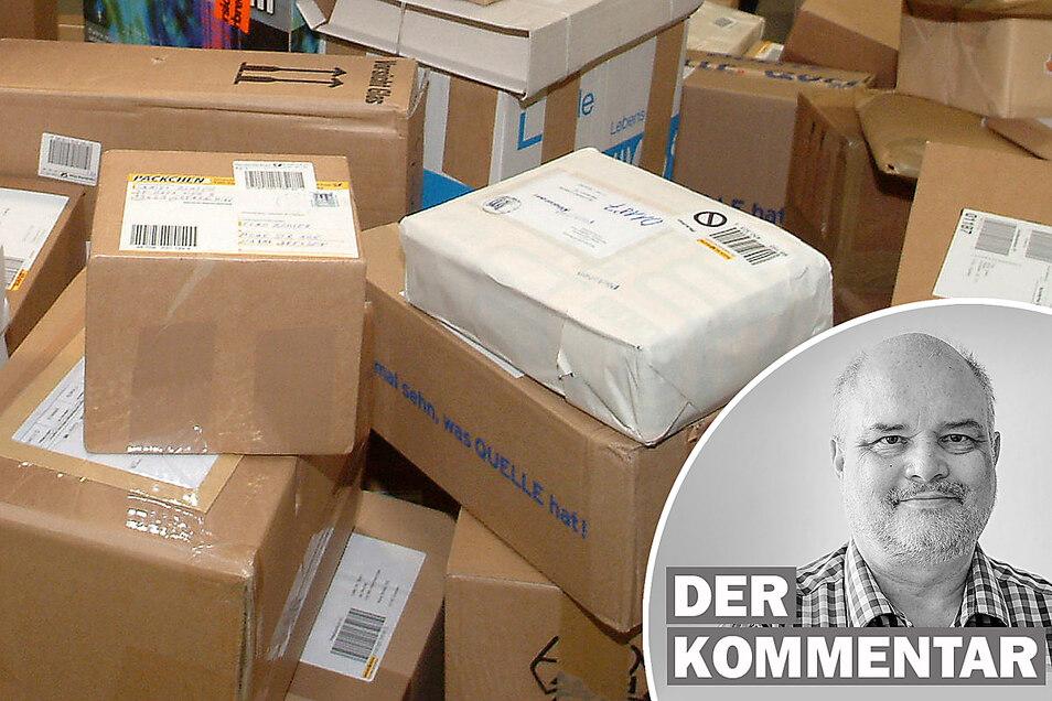 Die Paketflut wächst - und auch der Ärger von Empfängern über die Zusteller. Doch das ließe sich vermeiden, findet Sächsische.de-Reporter Tilo Berger.