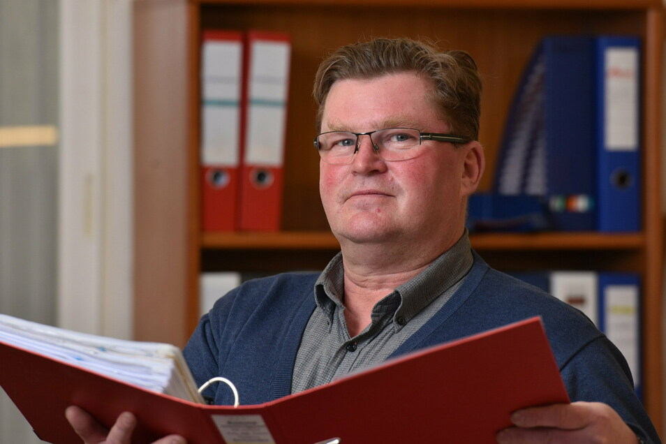 Der Bürgermeister von Dorfhain, Olaf Schwalbe (CDU), hat für 2021 große Pläne.