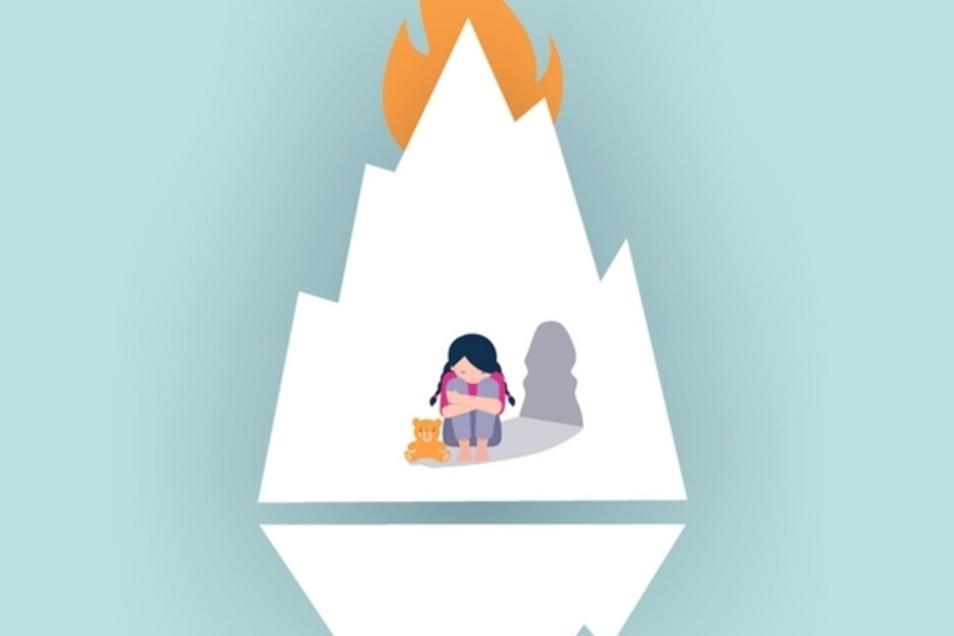 """Plakat zum Online-Theater-Stück """"Wie ich den Eisberg in Brand setzte und dabei das Hoffen lernte"""", das beim Bautzener Steinhaus am Sonnabend Premiere hat."""