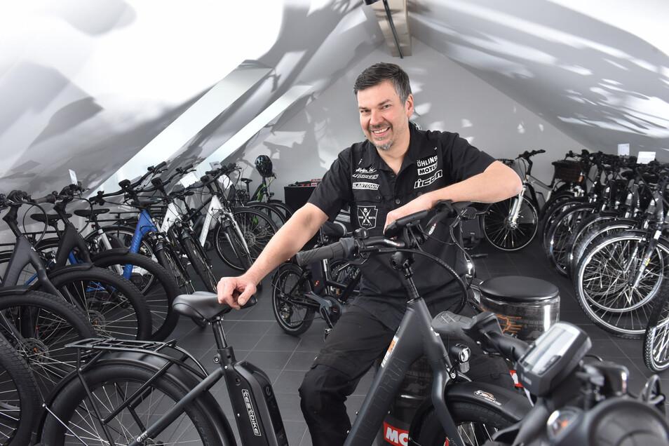 Dirk Scholz aus Reichenau hat dank EU-Geldern seinen Betrieb erweitert und bietet nun auch E-Bikes an.