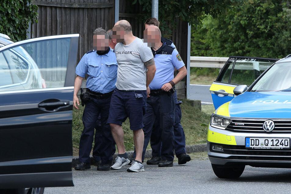 Dieser Mann wurde nach der Unfallflucht festgenommen.