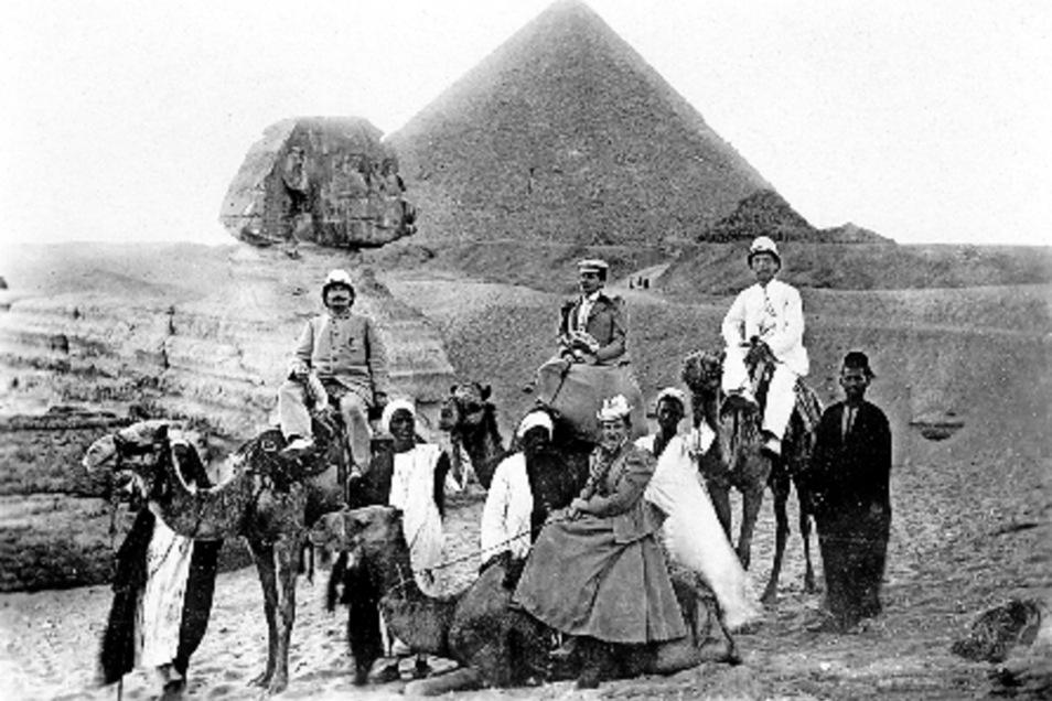 Karl May (rechts) auf seiner Orientreise.