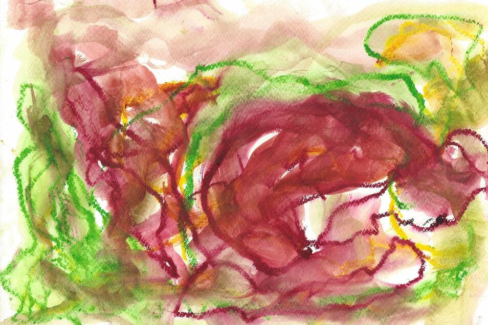 """""""Der demütige Affe"""" heißt dieses Bild von Katleen Hoffmann."""