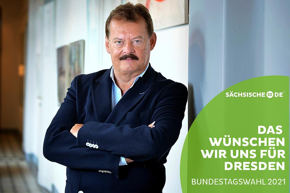 Prof. Dr. Michael Albrecht ist Medizinischer Vorstand am Uniklinikum Dresden und sieht die Impfmüdigkeit vieler Menschen mit Sorge.
