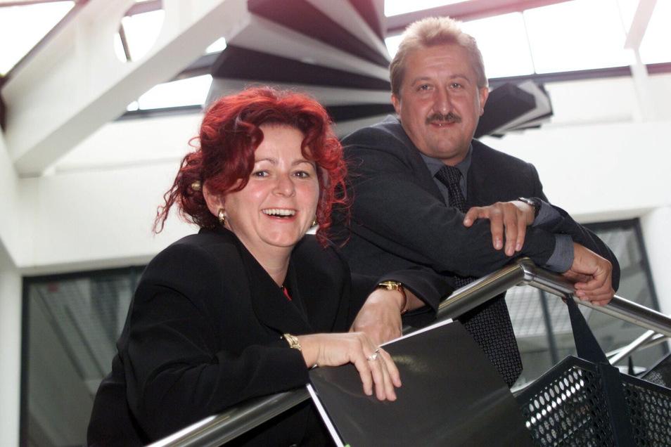 Viola Klein und Andreas Mönch im Jahr 2000