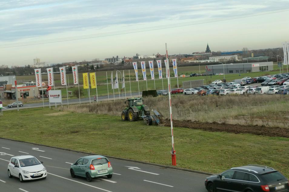 Die Vorbereitungen: Im Dezember wurde das Wiesengrundstück neben dem Riesapark umgepflügt.