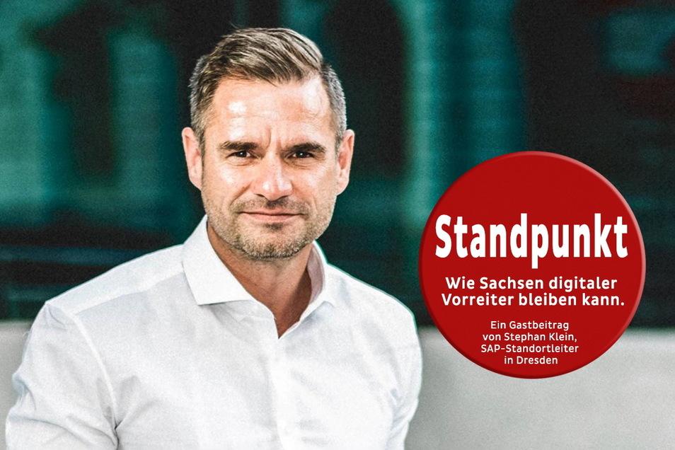 Stephan Klein, Standortleiter für den Softwarekonzern SAP in Dresden, sieht großes Potenzial in Sachsen für eine erfolgreiche Digitalisierung. Foto: PR