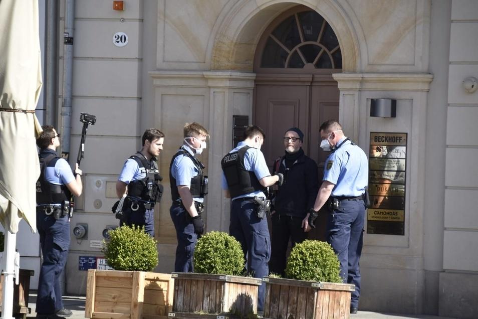 Demo für Grundrechte endete mit Polizeieinsatz.