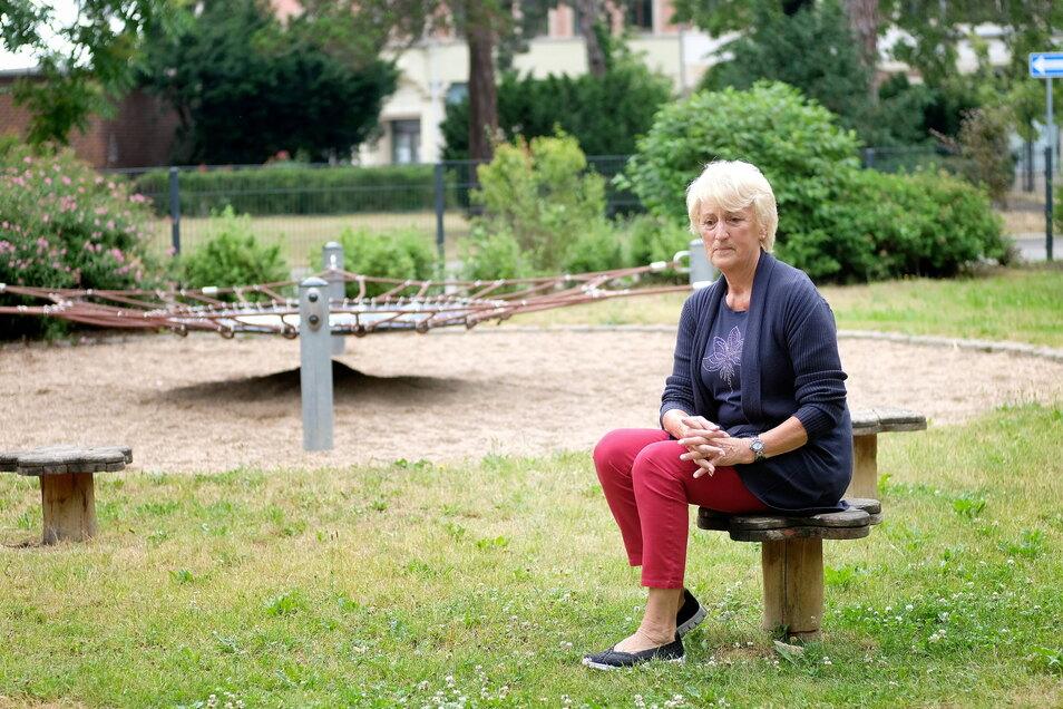 Brigitte Hofmann ist traurig, dass ihre georgischen Patenkinder abgeschoben wurden. Auf diesem Spielplatz war sie so oft mit ihnen.