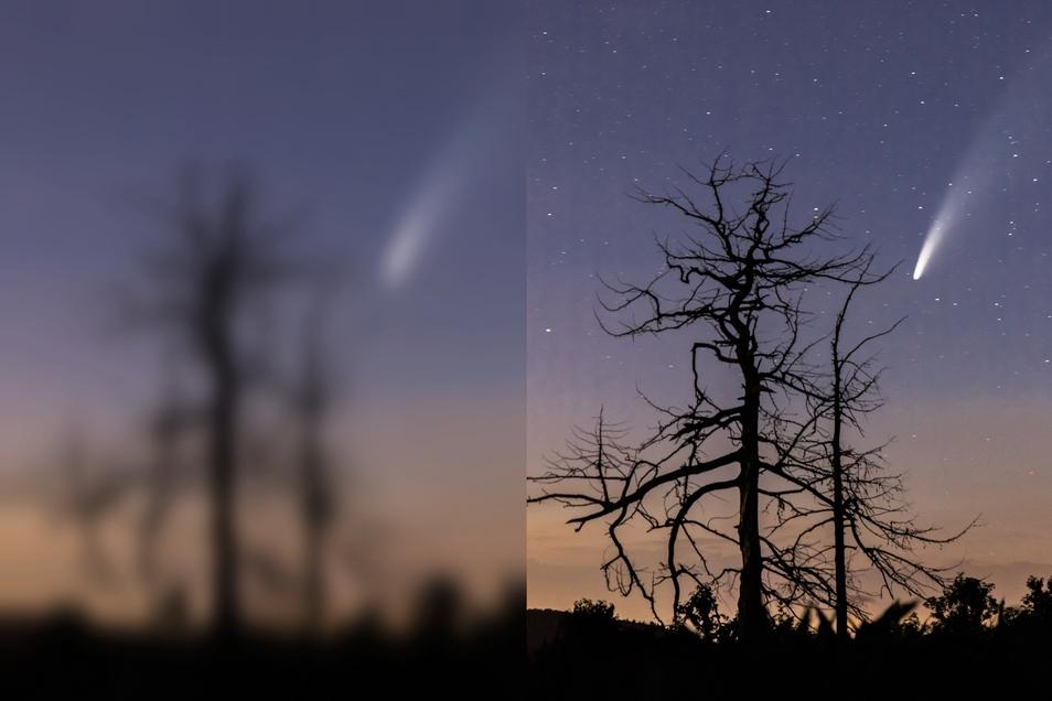 Eine Neowise-Aufnahme in der Nacht von Dienstag zu Mittwoch aus Großschönau.