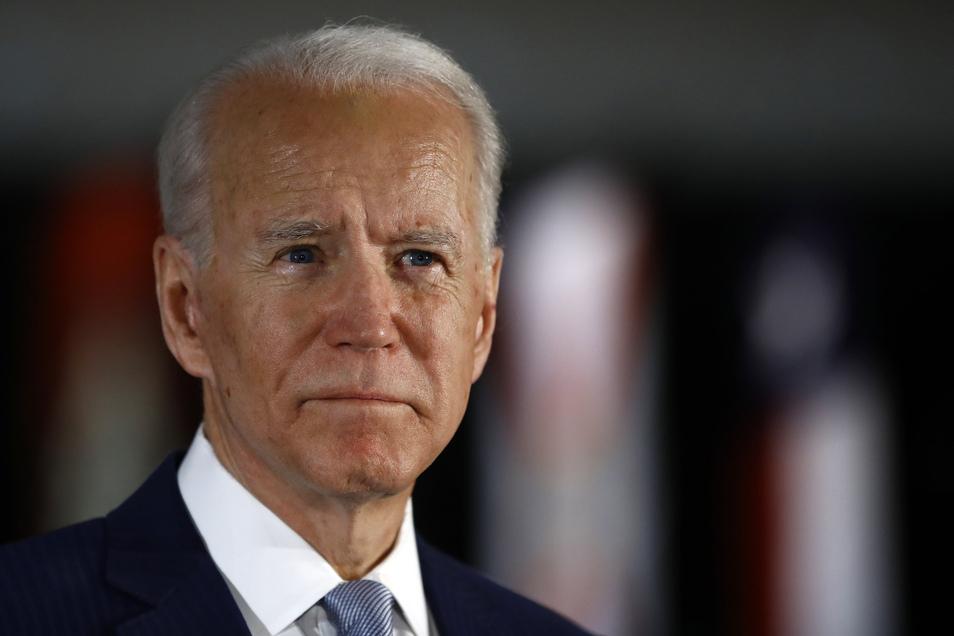 Sein Herausforderer Joe Biden wird für die Demokraten in das Rennen gegen Donald Trump ziehen.