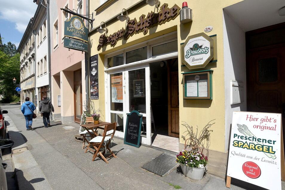 """Die """"Seeger Schänke"""" in der Inneren Weberstraße in Zittau ist derzeit geschlossen."""