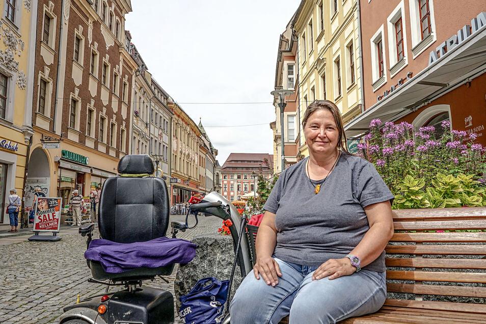 Christiane Gaida gefällt es in Bautzen nicht nur auf der Reichenstraße. Aber ihre jüngste Anreise in die Spreestadt gestaltete sich problematisch.