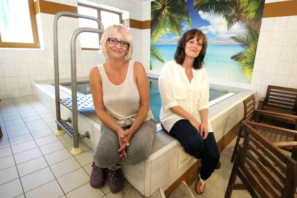 Vor fünf Jahren war die Sauna-Welt für Katrin Natusch (links) und Yvonne Klar noch in Ordnung. Zum 1. September 2016 haben sie die Sauna am Waldbad übernommen.: