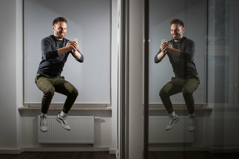 Wenn spielen fit macht: Etienne Petermann von Evomo demonstriert seine Sprungkraft und sammelt dabei Punkte.