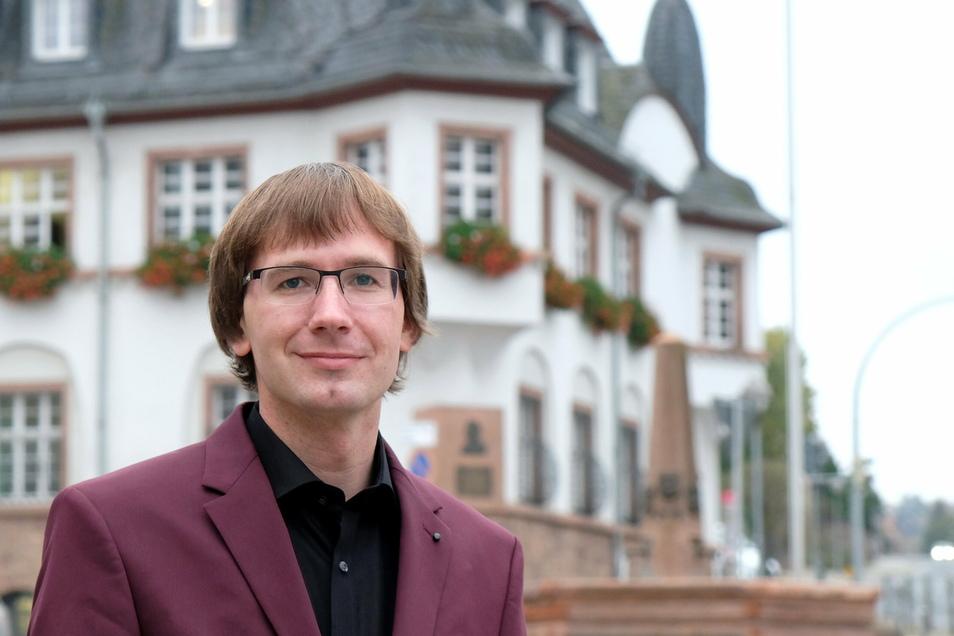 Christian Bartusch, neuer Bürgermeister der Stadt Nossen.