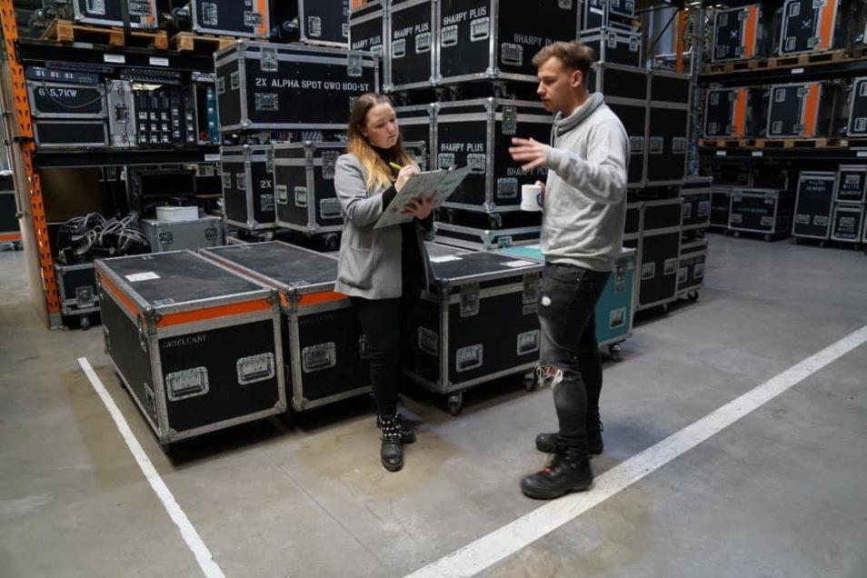 """Annalena Krämer und Benjamin """"Benjo"""" Strathmeier planen die neusten Streaming-Konzerte für ihr Projekt """"Live again""""."""