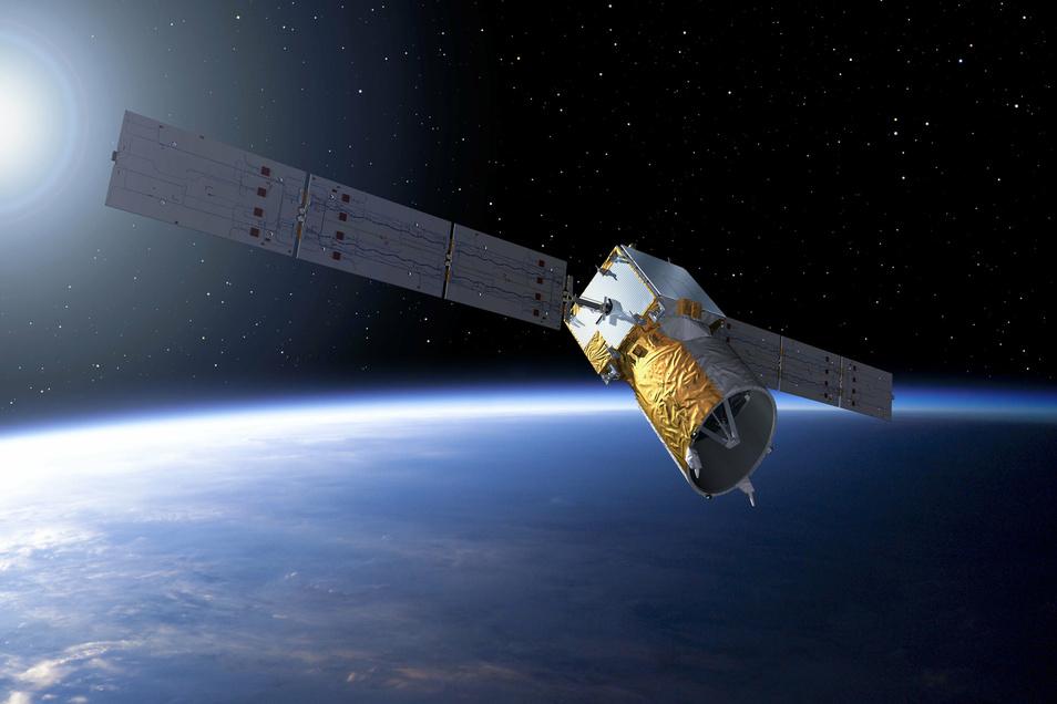 Die Europäischen Raumfahrtagentur ESA stellt Sachsen für die Analyse der Waldschäden kostenlos Satellitenbilder zur Verfügung.