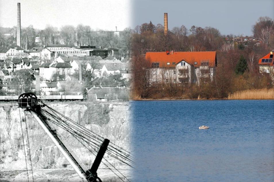 Aus dem Tagebau Olbersdorf wurde der Olbersdorfer See.