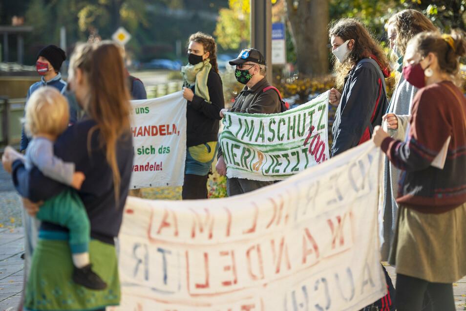 Demonstrieren unverdrossen für einen Wandel in der lokalen Klimapolitik: Tharandt for Future.
