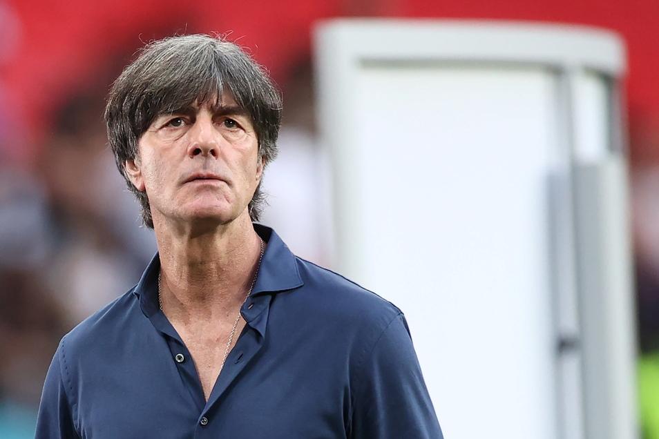 Bundestrainer Joachim Löw zeigte sich nach dem EM-Aus gegen England sehr enttäuscht.