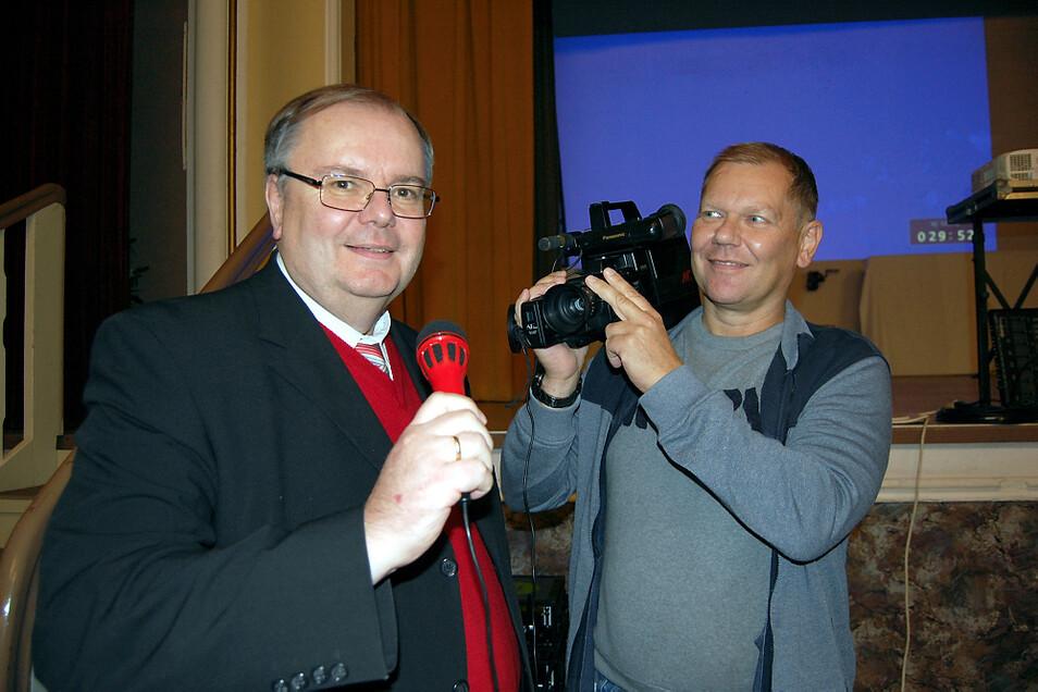 """Gerd Simmank (li.) und Manuel Wenzko waren zwei der """"Heimatkanal""""-Macher."""