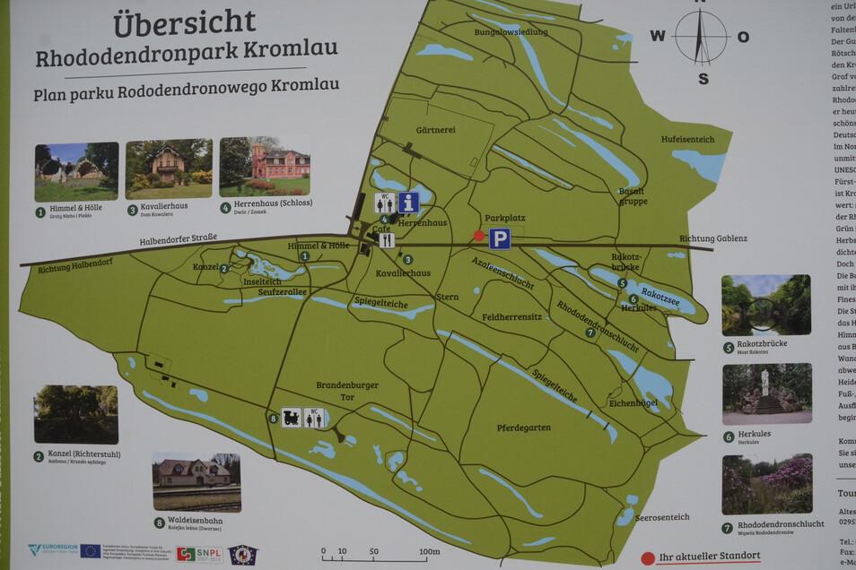 Informationstafel am Kromlauer Park