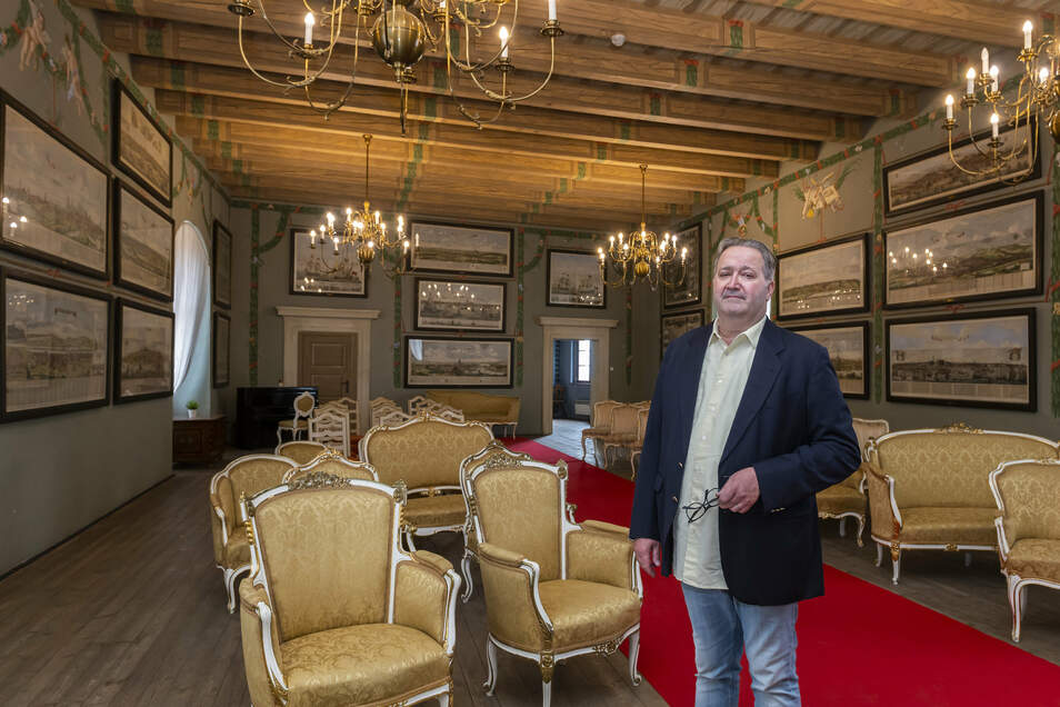Schlossdirektor Jiri Loksan in Melnik.
