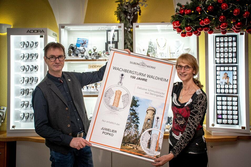 Gudrun und Maik Popko haben den Wachbergturm als Motiv gewählt, weil dieser im kommenden Jahr 150 Jahre alt wird.