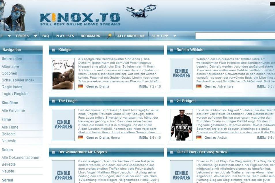 Wenige Tage nach dem Aus für Kino.to ging das Raubkopierportal Kinox.to ans Netz. Heute existiert die Seite immer noch.
