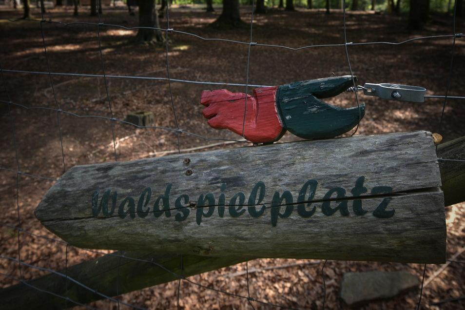 Der Waldspielplatz Albertpark wird in den nächsten Wochen neugestaltet.