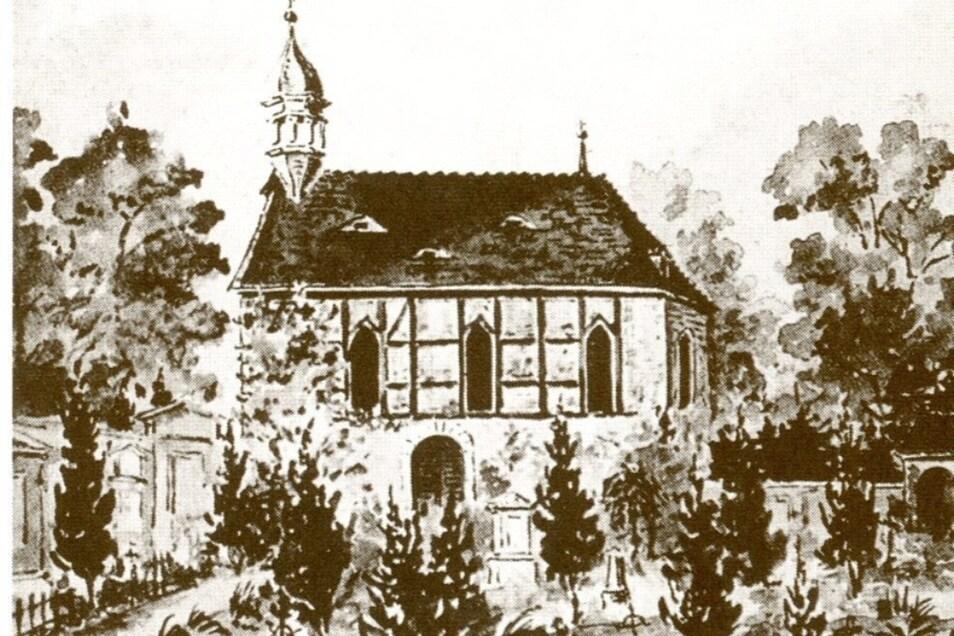 Die 1666 geweihte zweite Nikolaikirche wurde 1875 abgerissen.