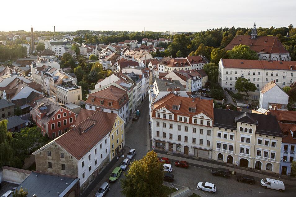 Blick auf die Görlitzer Nikolaivorstadt