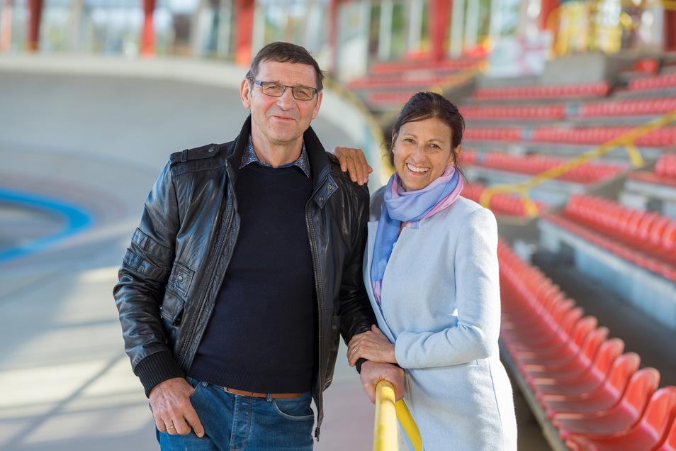 Auf der Cottbuser Radrennbahn hat Hans-Joachim Hartnick trainiert, seine Frau Marina die Karriere begleitet.