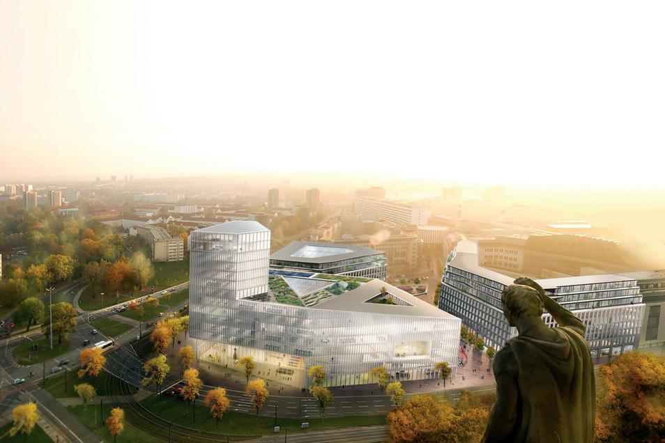 Der Streit um die Höhe des geplanten Rathaus-Neubaus  am Ferdinandplatz ist ein Grund dafür, dass die Stadt nun ein Hochhausleitbild erarbeitet.