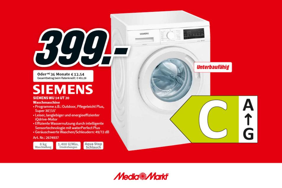 Die Siemens WU 14 UT 20 Waschmaschine für nur 399€