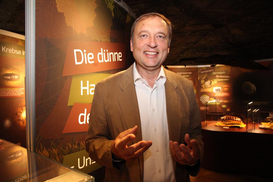 Prof. Willi Xylander, Leiter des Senckenberg Museum für Naturkunde Görlitz. Auch er lädt zu einer neuen Sonderschau ein. Gezeigt werden Riesenkäfer aus aller Welt.