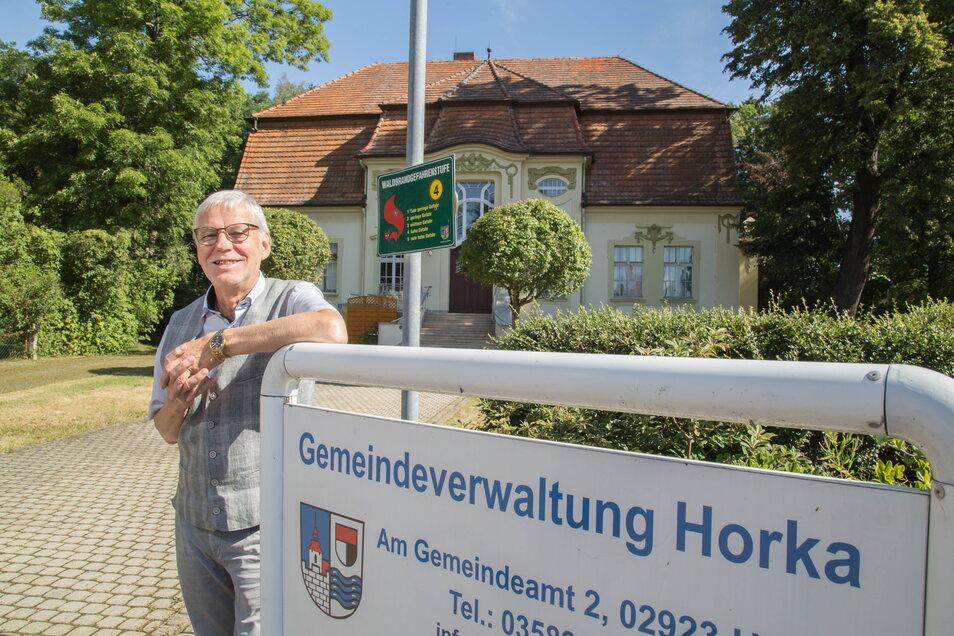 Christian Nitschke gibt das Bürgermeisteramt in Horka 2022 auf jeden Fall ab - egal ob es hier künftig einen ehren- oder hauptamtlichen Rathauschef gibt.